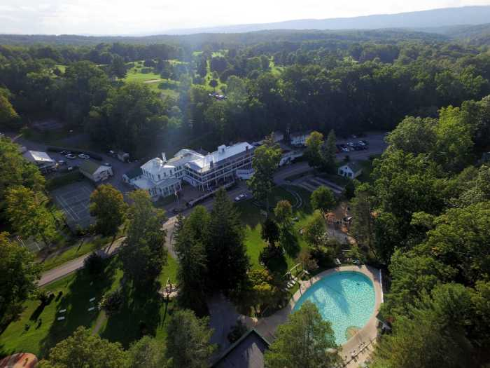 Capon Springs Resort from above, WV
